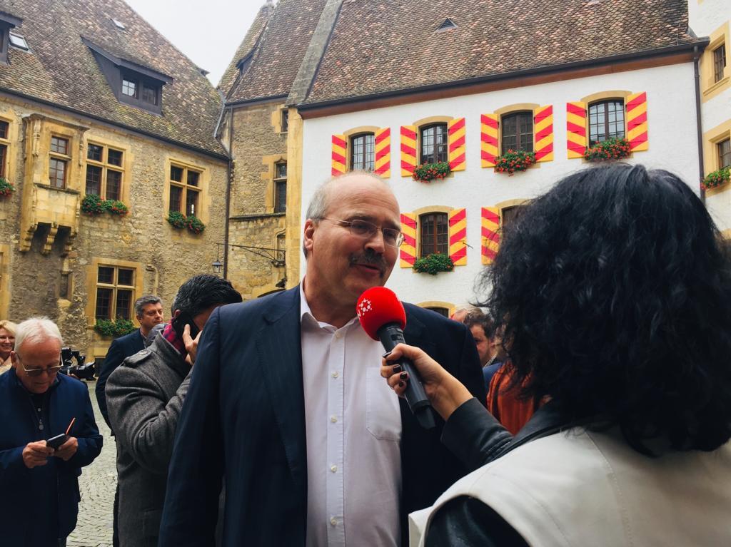 Philippe Bauer est arrivé au Château