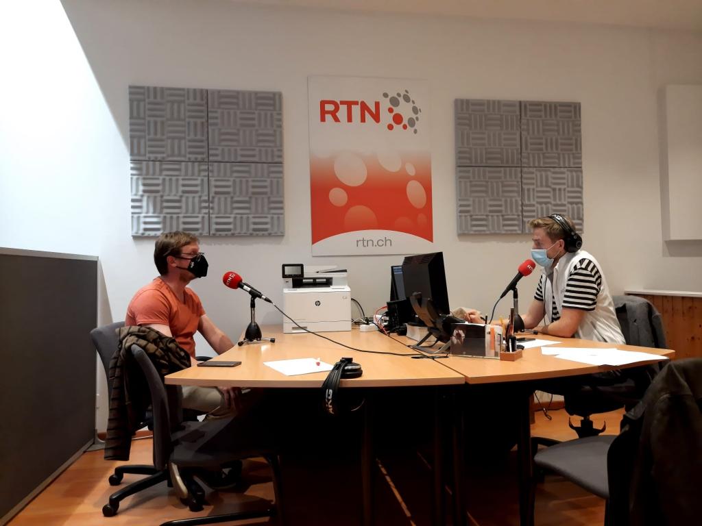 Julien Gressot en direct de notre studio de La Chaux-de-Fonds avec Léonard Reichen