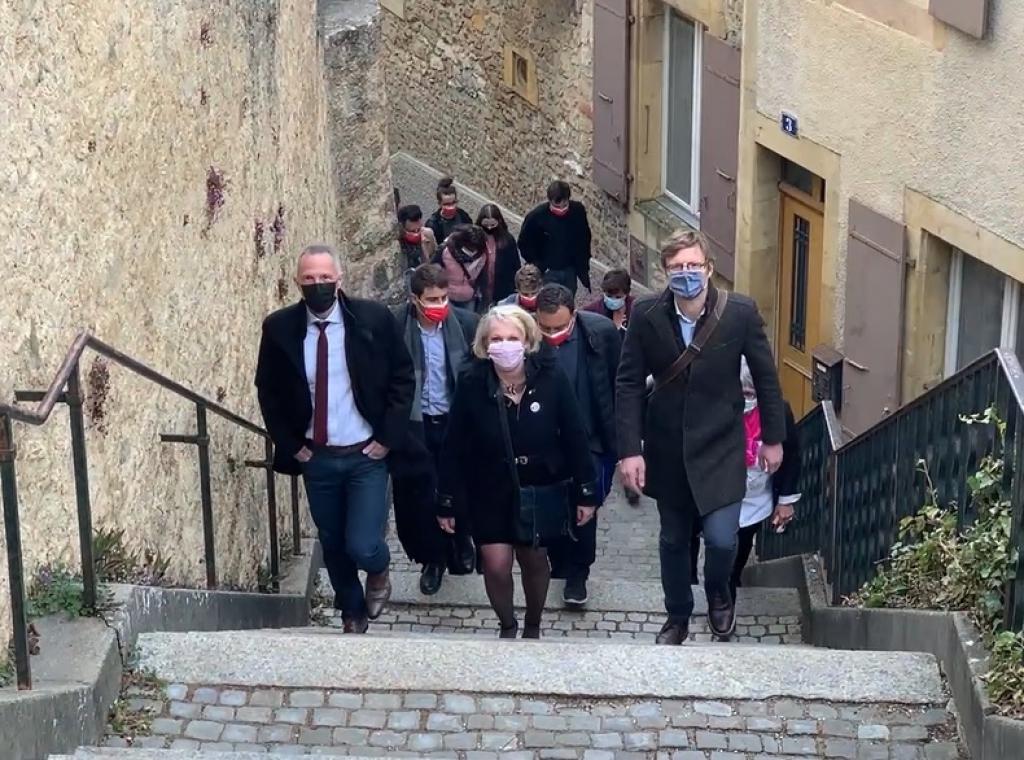 Arrivée du Parti socialiste au Château