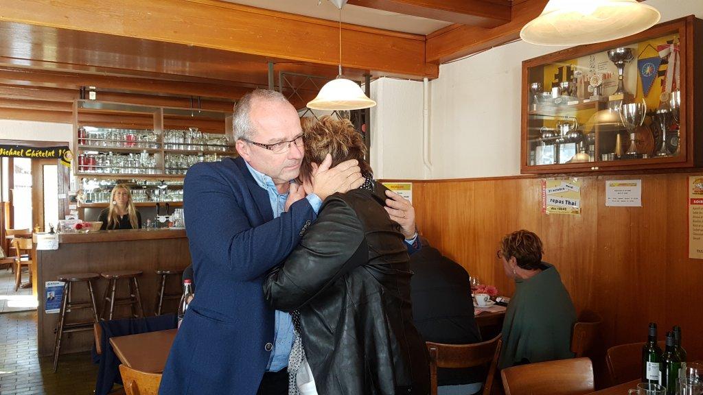 Émotion pour Jean-Bernard Vallat au moment de l'annonce de son élection